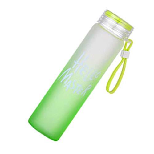 Xinjieda Bunte 400ml Gradient Mattglas-Wasserflasche Frische Studenten Tote Wasser Cup Letters Pattern