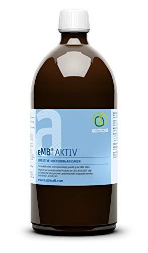 eMC emB Aktiv, 1 Liter - effektive Mikroorganismen zum Abbau von schwer abbaubaren Substanzen zum kompostieren