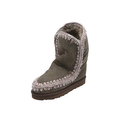 Mou Eskimo Kinder Mädchen Stiefel Grün Schnür-Stiefelette Winter, Größe:EUR 33