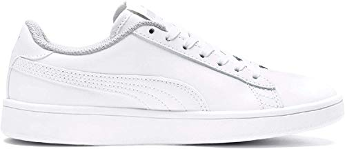 PUMA Unisex-Kinder Smash v2 L Jr Sneaker, Weiß White White, 36 EU