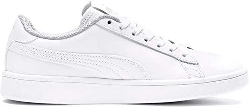 PUMA Smash V2 L JR, Zapatillas Unisex niños, Blanco White White, 36 EU