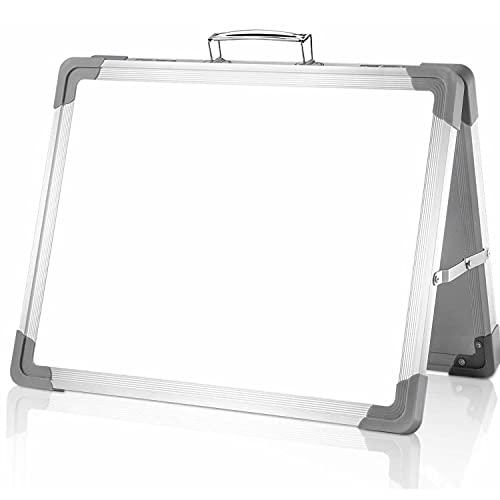 ZYFWBDZ Pizarra Blanca de borrado en seco de Escritorio, Mini Pizarra portátil Plegable de 12 x 16 Pulgadas para niños/Estudiantes, Dibujo, Notas de enseñanza, Oficina, hogar