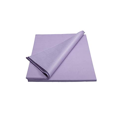 Crown 480 Sheets Bulk Pack Lavender Tissue Paper Gift Wrap - Ream of Paper - 20 inch. x 30 inch. Wrapping Tissue Paper - for Scrapbooking Paper, Art n Crafts, Wrapping Christmas Gifts and More!!