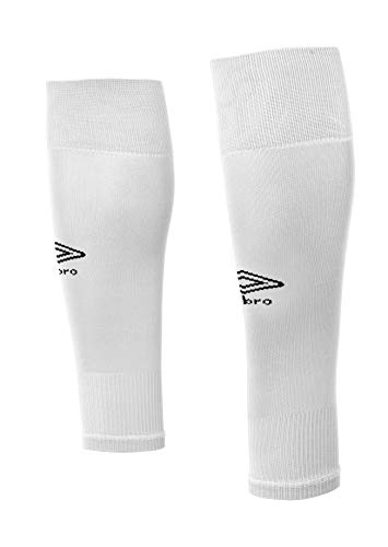 UMBRO Footless Socks Medias De Fútbol, Hombre, Blanco, Talla Única