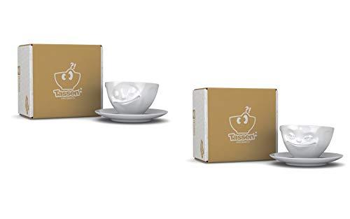 Fiftyeight Kaffeetassen Set, 2-er Set glücklich und grinsend