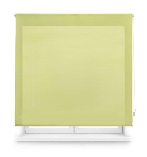 Blindecor Ara - Estor doorschijnend glad rolgordijn 100 x 250 cm pistache
