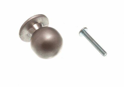 porte de l'armoire tirer la poignée ronde bouton chromé mat 25mm + vis (PCK 200)
