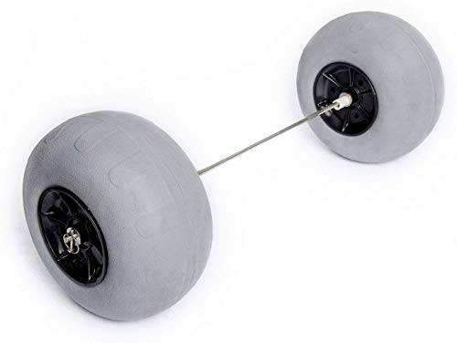 12' Balloon Wheel Conversion Kit for Big Wheel Beach Carts-Includes Stainless Steel Axle,(2)12' Balloon/Beach Tires,(4)Bearings, Stainless Steel Axle -Easy Install,No Drilling/Tools Required.