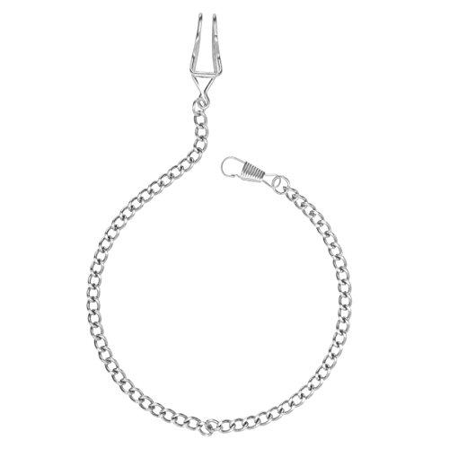 NICERIO Llavero de cadena de reloj de bolsillo plateado plata clásico