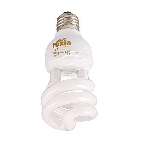 POFET Lámparas de bajo consumo Bombilla UVB, Espiral compacta 13Watts UVB 5.0 Bombilla de luz para reptiles Apta para reptiles / serpientes / lagartos /tortugas / tortugas de tipo bosque lluvioso