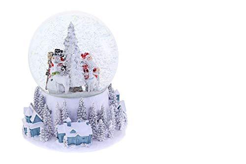 DOREX Bola Navidad Muñeco, Cristal, Blanco, Talla Unica