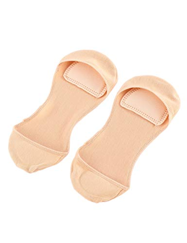 DSHTF Normallack- dünner Schwamm- Auflage- Boots-Socken-Frauen-unsichtbare Fersen-Socken-weiche atmungsaktive Baumwolle Keine seitlichen niedrigen kurzen Socken , Akt,3 Paare