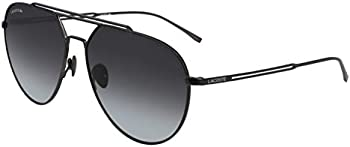 Lacoste Men's Gunmetal Aviator Pilot Sunglasses