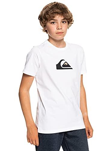 Quiksilver Comp Logo, Camiseta Niños, Opacity, White, S/10