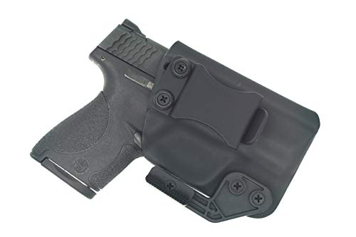 Sunsmith Holster AIWB Series - Compatible with Smith & Wesson M&P Shield Kydex Appendix Carry Inside Waistband Concealed Carry Holster Made in USA (Black - Right Hand)