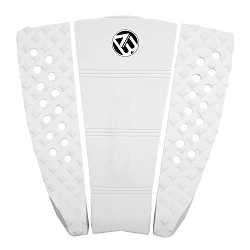 AQUBONA 3 Pieces/Set Premium Performance EVA Surfboard Stand Up Paddleboard Surfing SUP Deck Pad/Traction Pad/Tail Pads/White Blue