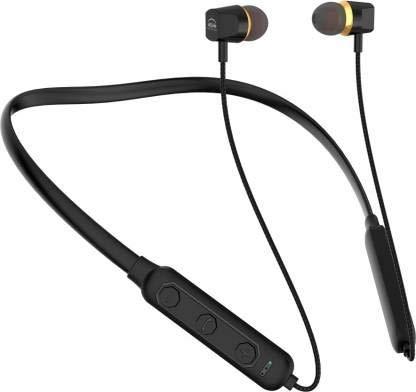 U&i Titanic Series Bluetooth Neckband Bluetooth Headset (Black, Wireless in The Ear)