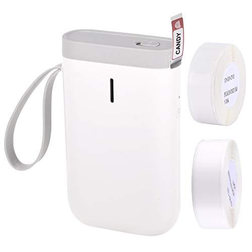 Aibecy Ettiketiergerät Thermoetikett Namensetiketten Labeldrucker Preisauszeichner Aufkleberdrucker BT Drahtlose Verbindung mit APP 1 Rolle Thermopapier