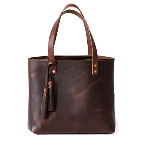 Brown Leather Tote Bag For Women, Leather Bag, Leather Handbag, Gift for Her