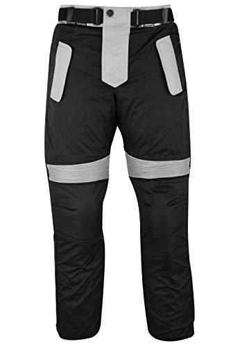 German Wear Herren Motorradhose Textilien Motorrad Hose Kombihose Schwarz-Grau, Größe:46