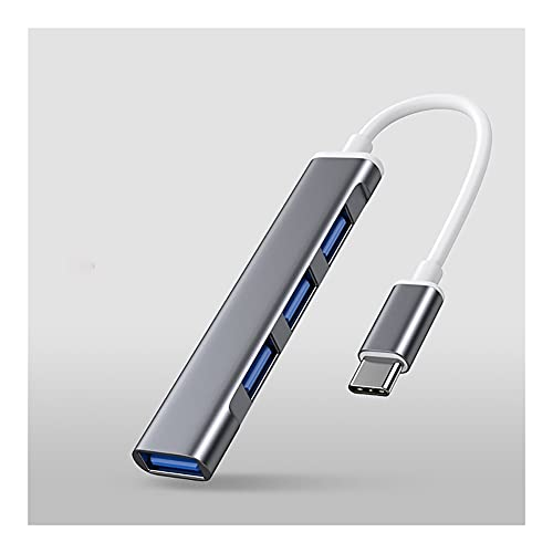 Hub USB USB C Estación de Acoplamiento 4-Port USB 3.0 Transferencia de Datos rápidos del Centro USB C Hub para la computadora portátil, USB Accionamientos Flash, y móvil. HDD Dock Station