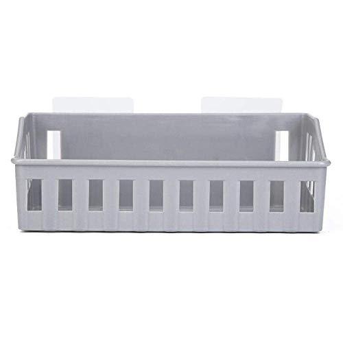 WCJ Huishoudelijke eenvoud Wandmontage plastic badkamer plank grijze shampoo keuken cosmetische opbergdoos Badkamer plank Hanger