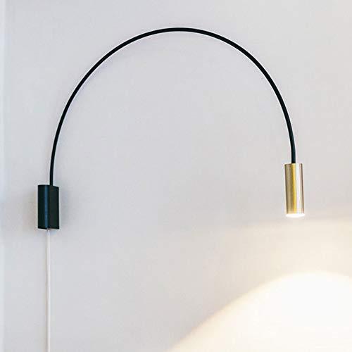 Industriële wandlamp hanglampen geometrische halfronde wandlamp study Bedside gang eenvoudige rotatie van de woonkamer gouden led-wandlamp