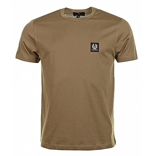 Belstaff Camiseta de algodón de peso pluma para hombre, Tierra, XXL