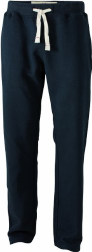 James & Nicholson Herren Sporthose Sporthose Men's Vintage Pants schwarz (black) Large