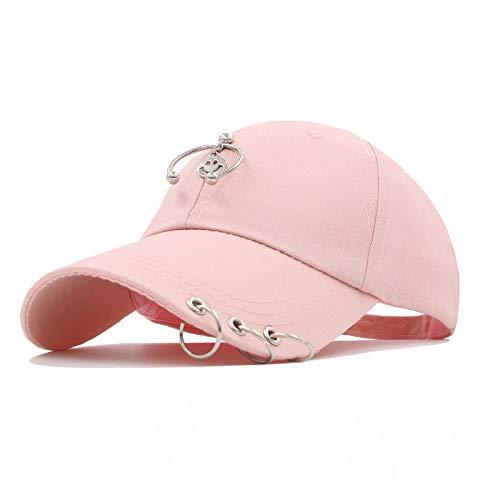 Gorra de béisbol de moda con anillo de hierro para hombre y mujer, gorra de béisbol, gorra de camionista y sombrero de papá