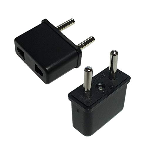 MAO YEYE 100pcs Best Price Hot Sale Universal USA US to EU Europe Euro Travel Charger Power Adapter Converter Wall Home Plug