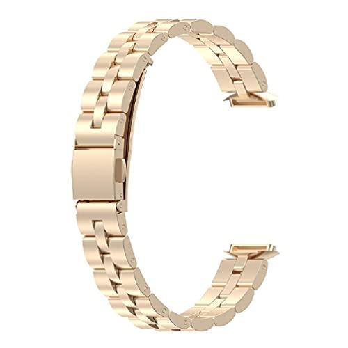 dedepeng Correa de metal compatible con Fitbit Luxe, resistente al agua, duradera, reloj inteligente de moda, correa deportiva de repuesto para hombres y mujeres, pulsera inalámbrica