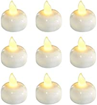 tea light candles in water
