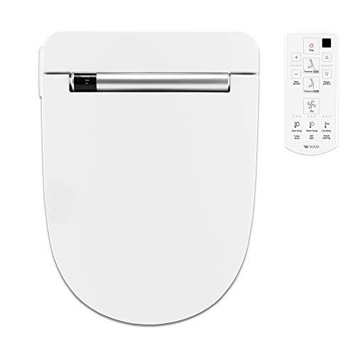 VOVO VB-4000SE Elektronischer Smart Bidet Toilettensitz, Länglich, Nachtlicht, Desodorierung, beheizter Sitz, Warmtrocknen und Wasser, Weiß, Hergestellt in Korea