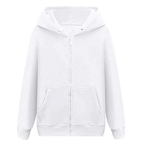 Best Review Of wuliLINL Mens Long Sleeve Hoodie Solid Slim Top Sweatshirt Pullover(White,M)