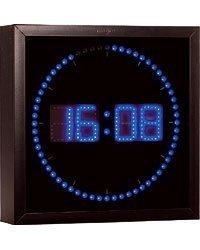 Horloge Digitale Murale avec 60 LED - Bleu [Lunartec]