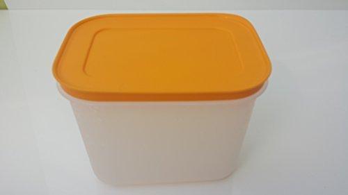 Tupperware Gefrierbehälter eingefrieren orange Behälter mit Deckel 1,1 Liter 1100ml auslaufsicher Kühltruhe Gefriertruhe