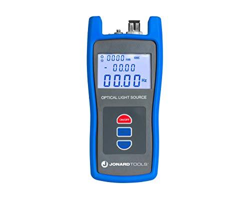 Jonard Tools FLS-50 Fiber Optic Light Source with Included FC/SC/LC Adapters for Single Mode Fiber Measurements