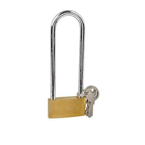 Cogex 80637 hangslot, messing, hoge beugel, 40 mm, grijs