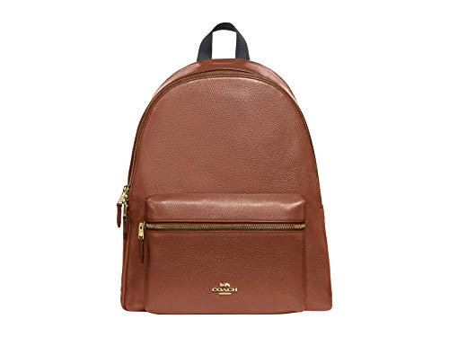 COACH Pebbled Leather Charlie Rucksack Sattel 2 One Size