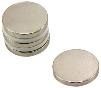 First4magnets F406-4 Durchmesser Dicker N42-Neodym-Magnet-4,6kg Anziehungskraft (4 St-Packung), 20mm dia x 3mm thick, 4 Stück