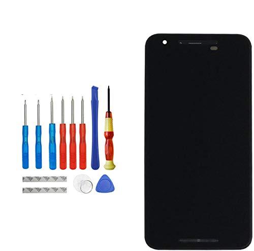 E-YIIVIIL - Display LCD di ricambio compatibile per LG Google Nexus 5X H790 H791 nero con telaio di ricambio per riparazione schermo LCD touch screen con kit di attrezzi