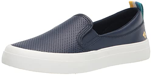 Sperry Women's Crest Twin Gore Sneaker, Navy/Yellow, Numeric_7_Point_5
