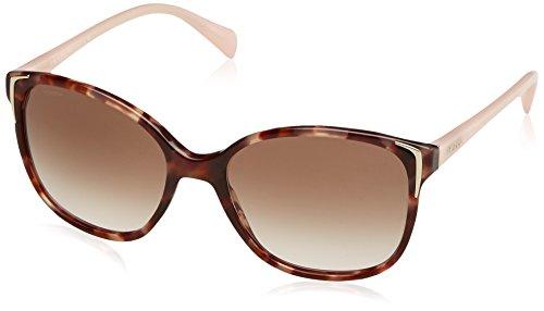 Prada Damen 0Pr01Os Ue00A6 55 Sonnenbrille, Braun (Spotted Brown Pink/Browngradient)