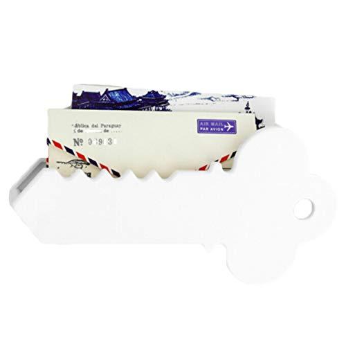 Caja de plástico para colgar en la pared del hogar, para colgar correos, organizador magnético