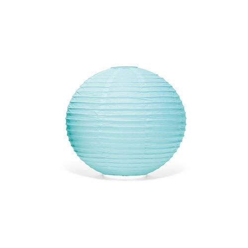 Weddingstar Round Paper Lantern, Small, Aqua Blue
