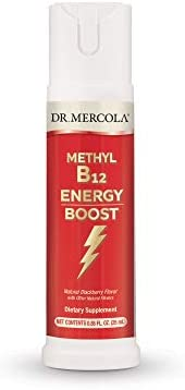 Dr Mercola Vitamin B12 Energy Boost Spray 0 85 FL oz 25 mL 32 Servings Supports Energy Levels product image