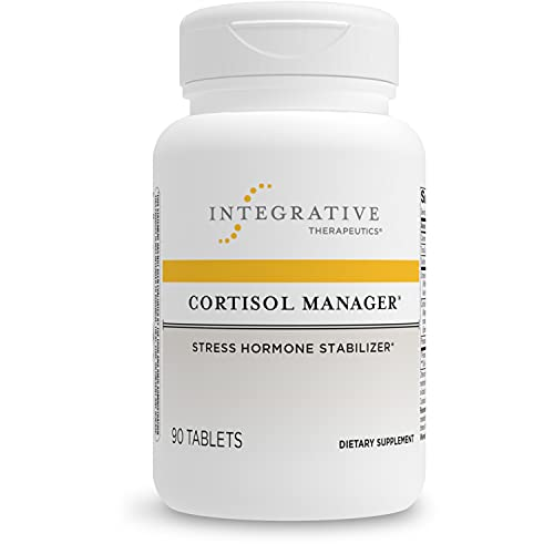 Integrative Therapeutics Cortisol Manager Supplement - Reduces Stress to Support Sleep* - Ashwagandha  L-Theanine - Support Adrenal Health* - 90 Count