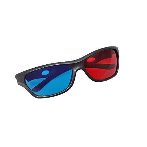 N/A - Gafas 3D con marco negro de cristal 3D para películas,...