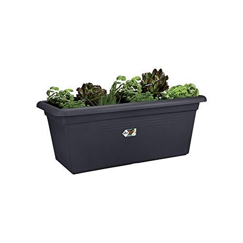 elho green basics Garden xxl 100 – Länglicher Pflanzenkasten in Living Black – Für den Outdoor-Bereich – L 44,5 x W 96,6 x H 10,6 cm